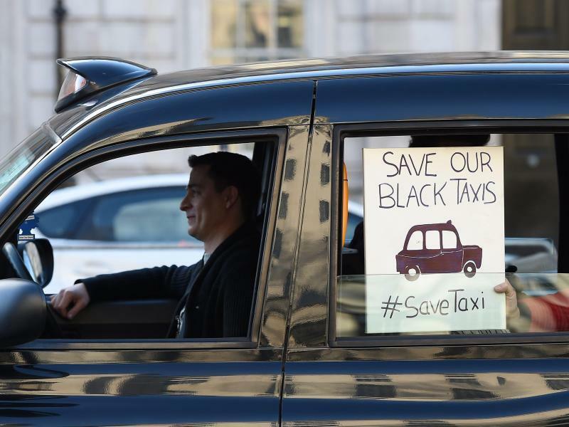 Protest gegen Uber - Foto: Andy Rain