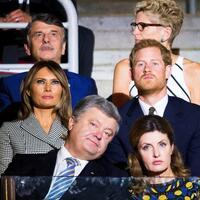Invictus Games - Foto: Prinz Harry und Melania Trump nehmen an der Eröffnungsfeier der Invictus Games im Air Canada Center in Toronto teil. Foto:Nathan Denette/The Canadian Press