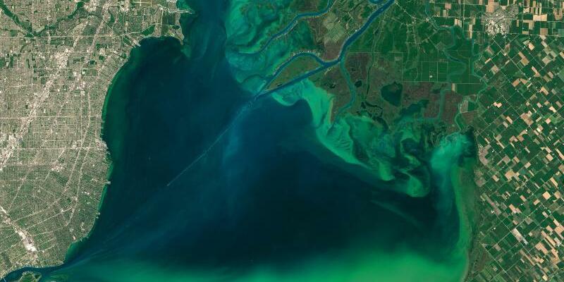 Lake St. Clair - Foto: Nasa/Goddard's Modis Rapid Res