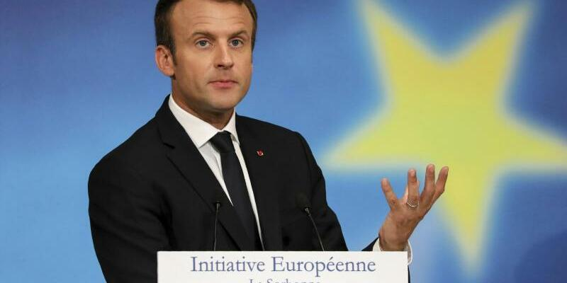 Macron spricht über EU-Reform - Foto: Ludovic Marin