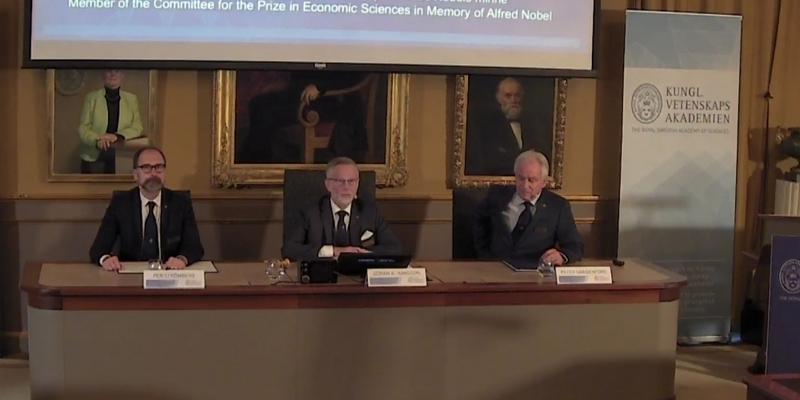 Bekanntgabe Nobelpreis für Wirtschaft am 09.10.2017 - Foto: über dts Nachrichtenagentur