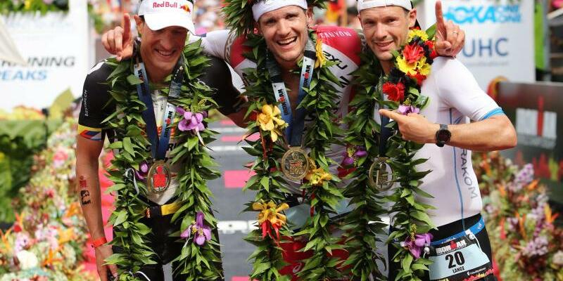 Sebastian Kienle, Jan Frodeno und Patrick Lange - Foto: Bruce Omori