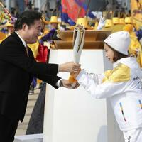 Olympische Flamme - Foto: Lee Jin-Man