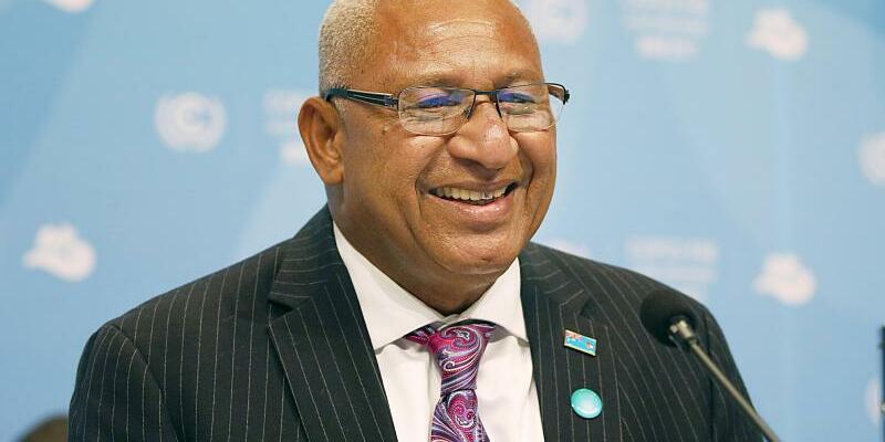 Frank Bainimarama - Foto: Der Premierminister der Fidschi Inseln, Frank Bainimarama, eröffnet die Weltklimakonferenz. Foto:Oliver Berg
