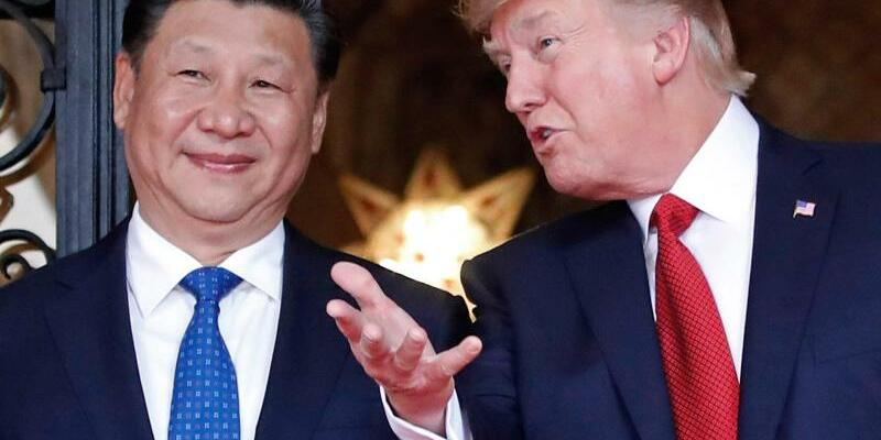 Donald Trump und Xi Jinping - Foto: US-Präsident Donald Trump empfängt im April in Palm Beach den chinesischen Präsidenten Xi Jinping. Foto:Alex Brandon