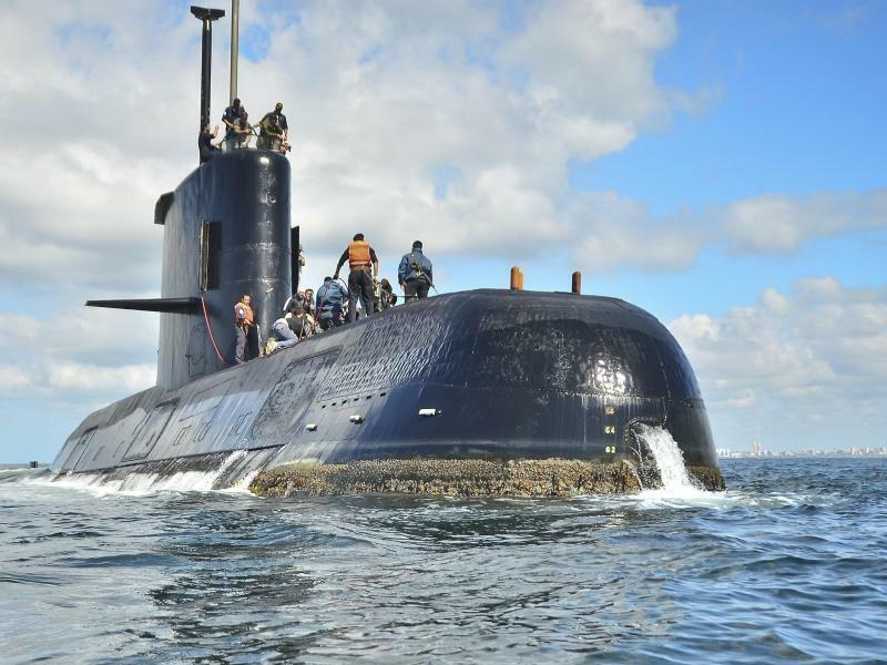 Argentinisches U-Boot - Foto: Juan Sebastian Lobos/Argentinische Marine/AP