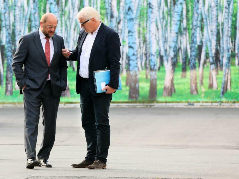 Steinmeier und Schulz - Foto: Stephanie Pilick/Archiv
