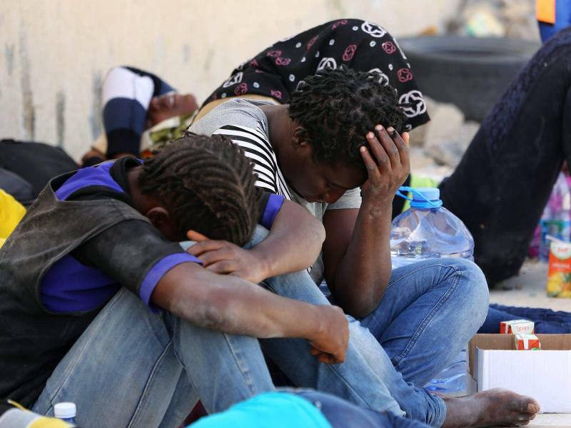 Auf der Flucht - Foto: Libyen gehört zu den wichtigsten Transitländern für Migranten auf dem Weg nach Europa. Foto:Stringer
