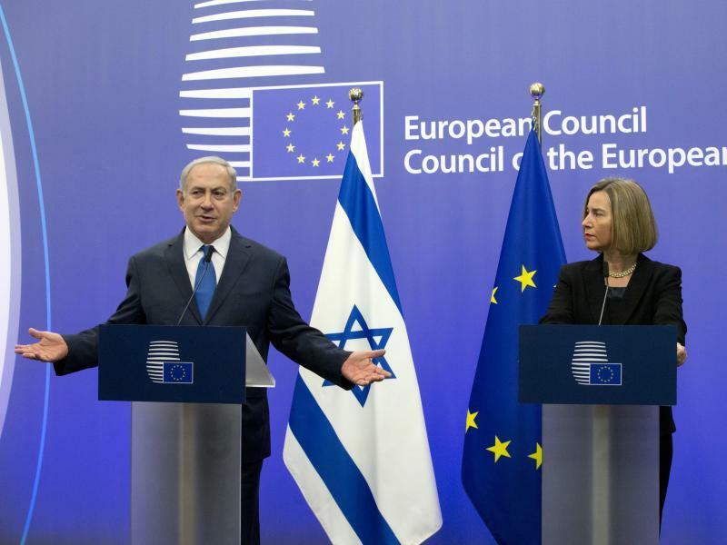 Netanjahu und Mogherini - Foto: Virginia Mayo