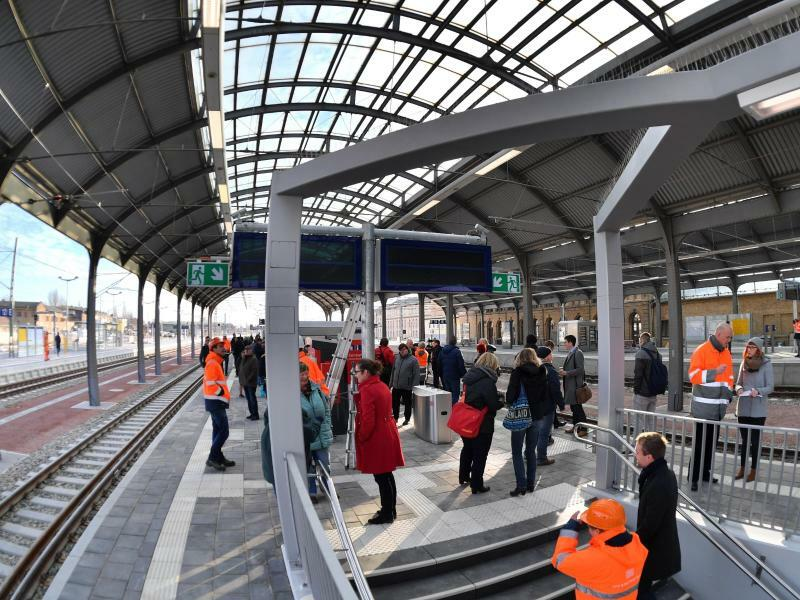 Hauptbahnhof Halle - Foto: Hendrik Schmidt