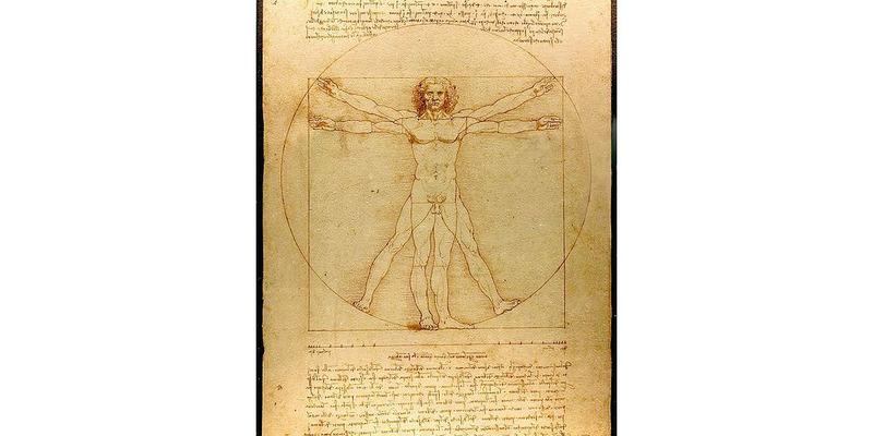 Der vitruvianische Mensch - Foto: Leonardo Da Vinci