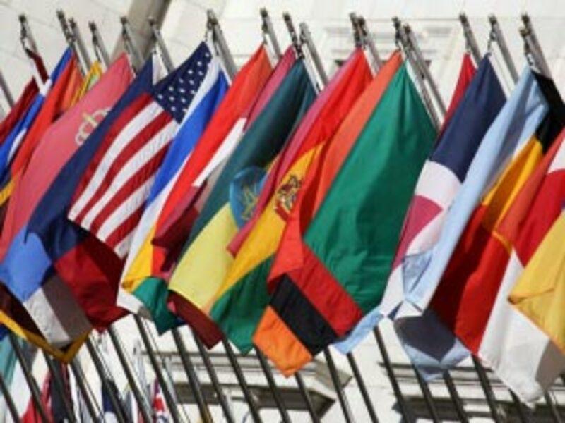 internationale Flaggen stehen - Foto: iStockphoto.com / DanCardiff