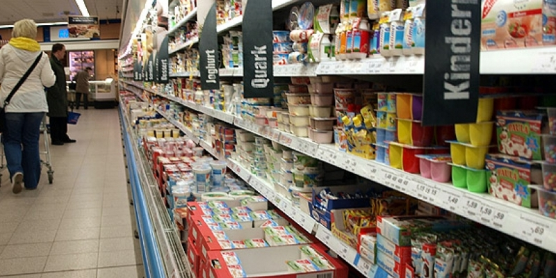 Einkaufsregal in einem Supermarkt - Foto: über dts Nachrichtenagentur