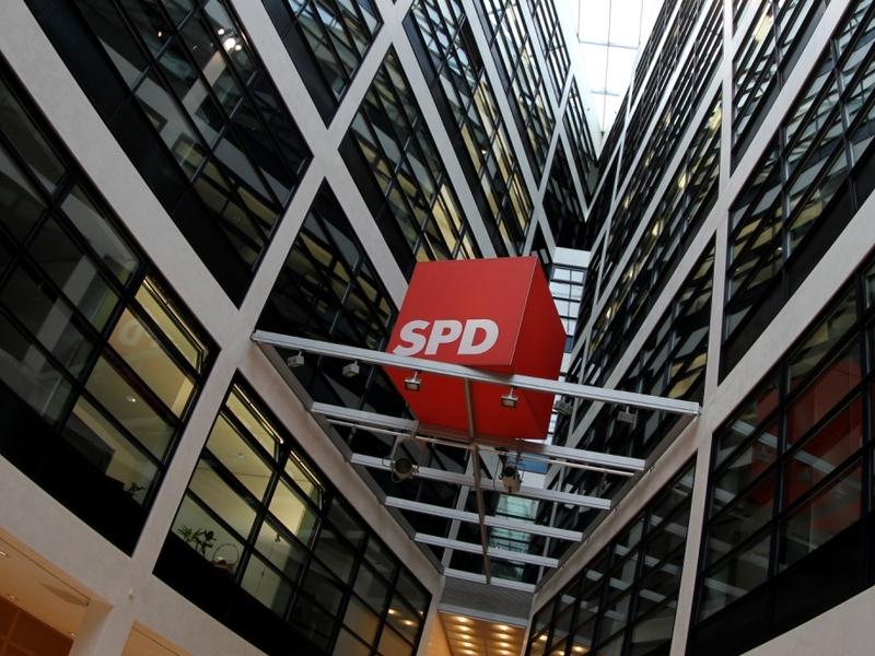 SPD-Logo im Willy-Brandt-Haus - Foto: über dts Nachrichtenagentur