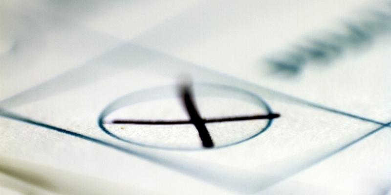 Kreuz auf Stimmzettel - Foto: über dts Nachrichtenagentur