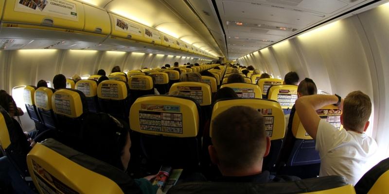 Passagiere in einer Ryanair-Maschine - Foto: über dts Nachrichtenagentur