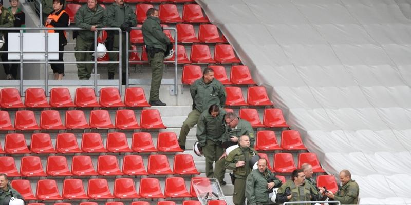 Polizei im Fußball-Stadion - Foto: über dts Nachrichtenagentur