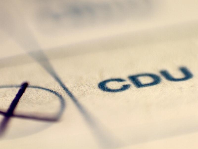 CDU auf Stimmzettel - Foto: über dts Nachrichtenagentur