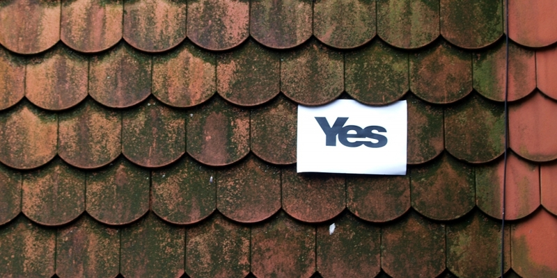Yes-Plakat zum Referendum in Schottland - Foto: über dts Nachrichtenagentur