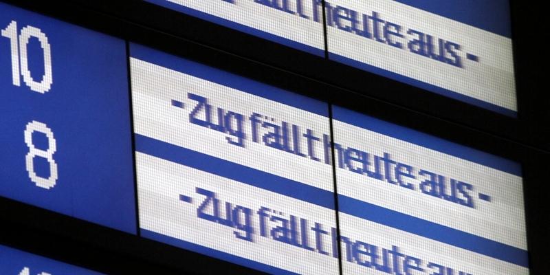 Zugausfälle bei der Bahn - Foto: über dts Nachrichtenagentur