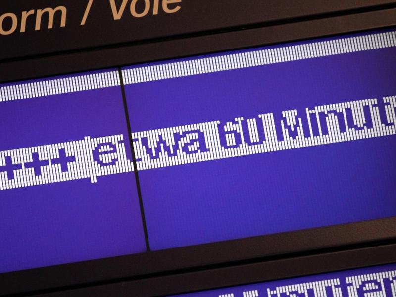 Verspätungs-Anzeige bei der Bahn - Foto: über dts Nachrichtenagentur