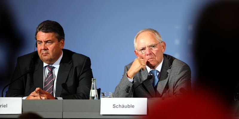 Sigmar Gabriel und Wolfgang Schäuble - Foto: über dts Nachrichtenagentur