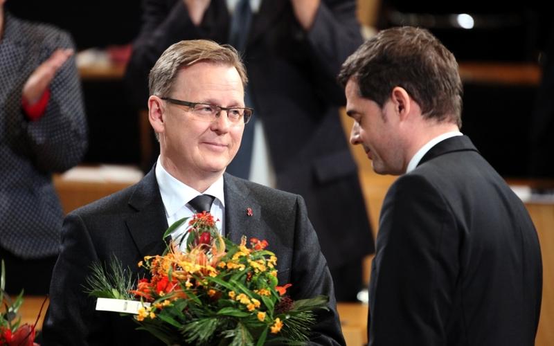 Bodo Ramelow und Mike Mohring am 05.12.2014 im Erfurter Landtag - Foto: über dts Nachrichtenagentur
