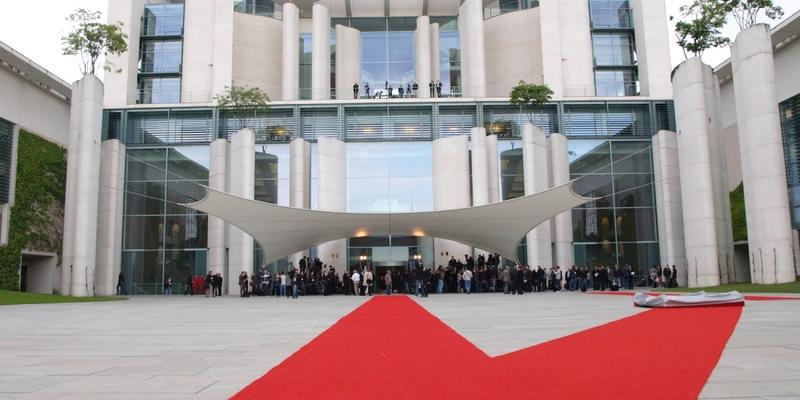 Roter Teppich bei Staatsbesuch im Kanzleramt - Foto: über dts Nachrichtenagentur