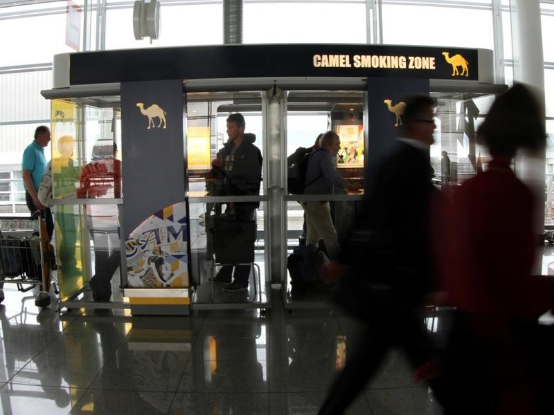Raucherbox in einem Flughafen - Foto: über dts Nachrichtenagentur