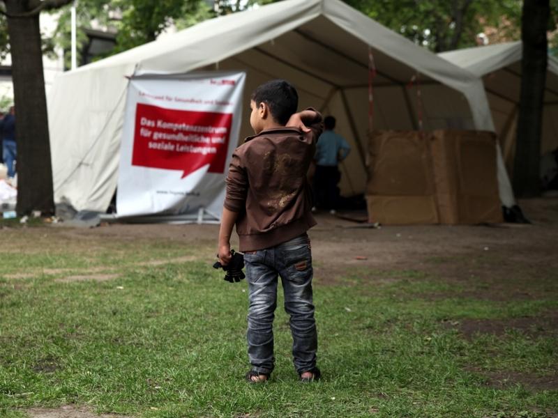 Flüchtlinge an einer Aufnahmestelle - Foto: über dts Nachrichtenagentur
