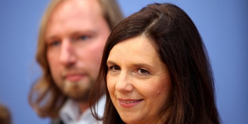 Anton Hofreiter und Katrin Göring-Eckardt am 09.10.13 in Berlin - Foto: über dts Nachrichtenagentur