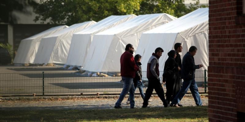 Flüchtlinge in einer Zeltstadt - Foto: über dts Nachrichtenagentur