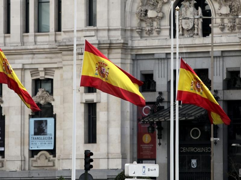 Spanische Fahnen - Foto: über dts Nachrichtenagentur