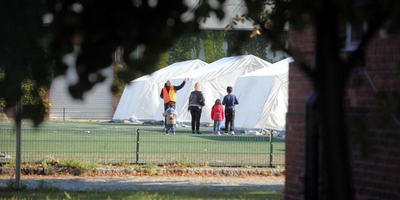 Flüchtlingsfamilie in einer Zeltstadt - Foto: über dts Nachrichtenagentur