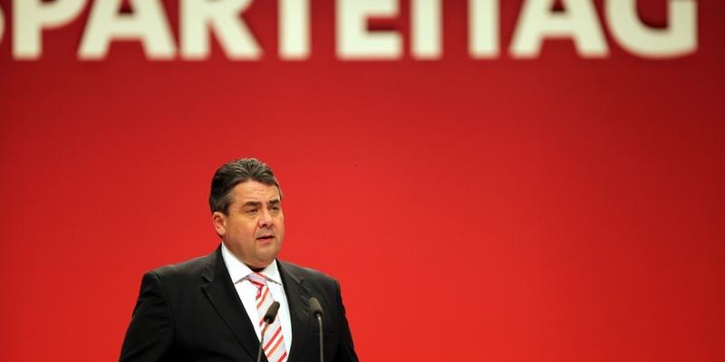 Sigmar Gabriel auf dem SPD-Parteitag in Leipzig am 14.11.2013 - Foto: über dts Nachrichtenagentur