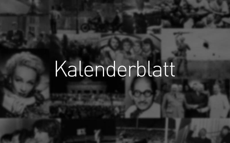 Kalenderblatt - Foto: dpa