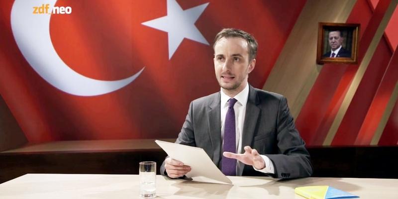 Jan Böhmermann trägt Schmähgedicht vor - Foto: ZDF, über dts Nachrichtenagentur