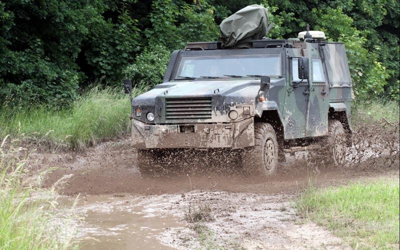 Gepanzertes Bundeswehr-Auto - Foto: über dts Nachrichtenagentur