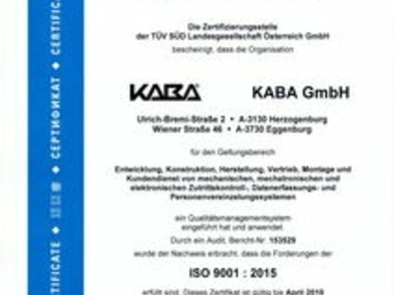 - Foto: Kaba GmbH, pressetext.de