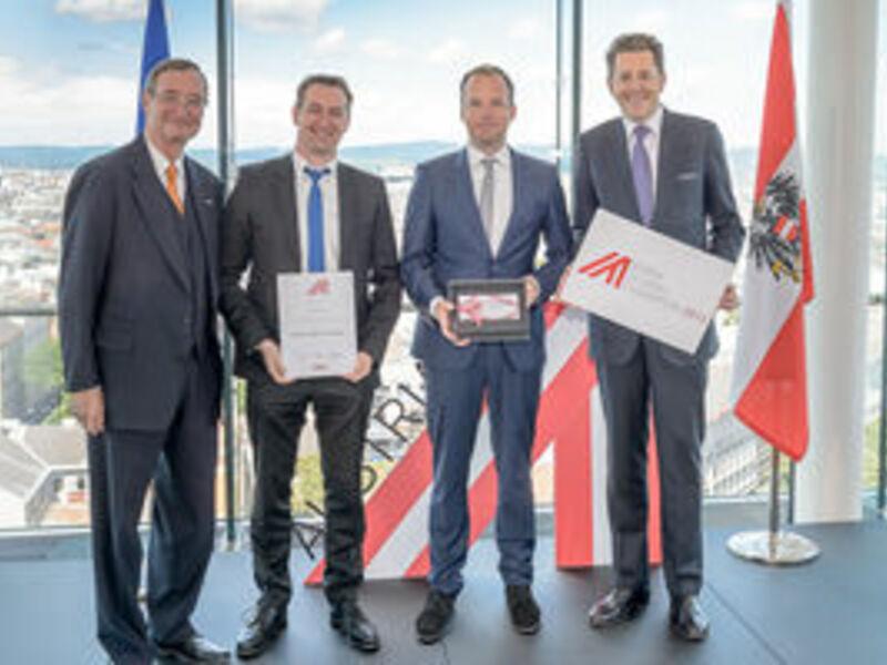 Preisverleihung - Foto: Aussenwirtschaft, pressetext.de
