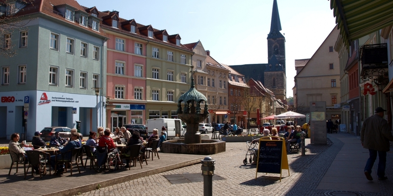 Marktplatz einer Kleinstadt (Aschersleben) - Foto: über dts Nachrichtenagentur
