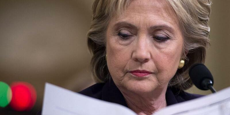 Hillary Clinton - Foto: Hillary Clinton hat derzeit wenig ANlass zur Freude. Foto:Shawn Thew