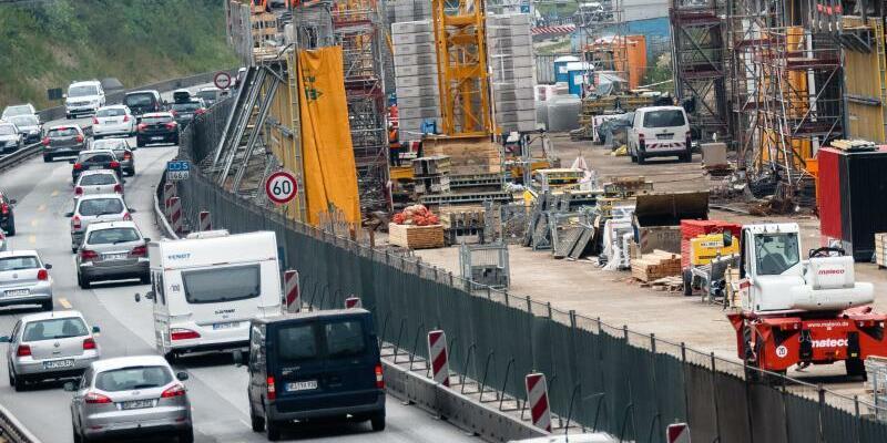 Baustelle auf der A7 - Foto: Markus Scholz/Archiv