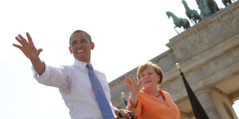 Obama und Merkel - Foto: Michael Kappeler