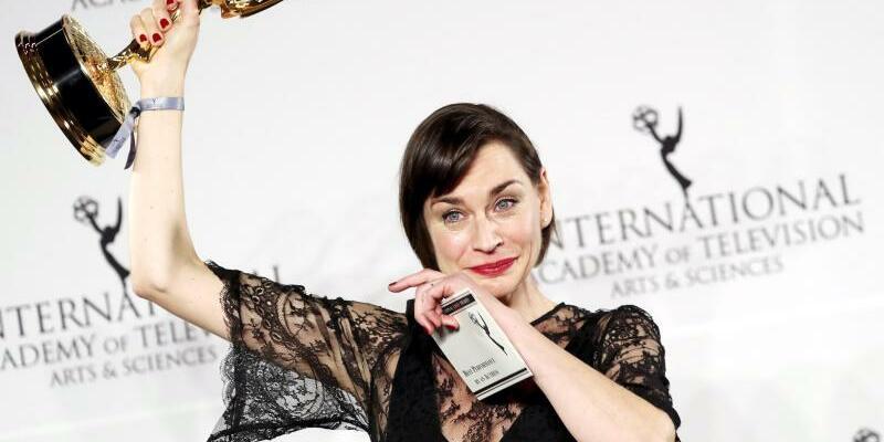 International Emmy Awards - Christine Paul - Foto: Christiane Paul ist überwältigt. Foto:Andrew Gombert