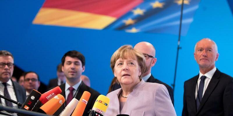 Merkel - Foto: Die Kanzlerin hat unterstrichen, dass die Union ohne Koalitionsaussage in den Wahlkampf 2017 ziehen will. Foto:Kay Nietfeld