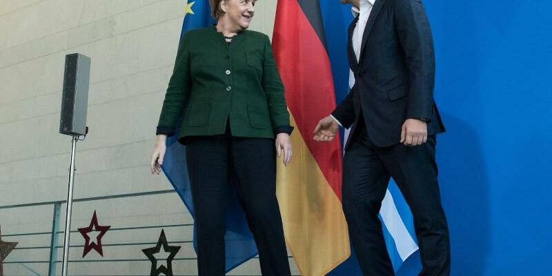 Merkel empfängt Tsipras - Foto: Bernd von Jutrczenka/dpa