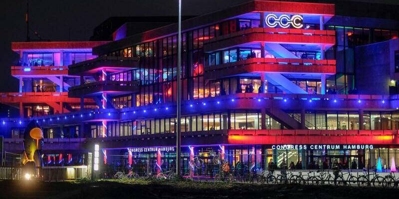 CCC - Foto: Auf dem Hackerkongress «Chaos Communication Congress» in Hamburg warnen Aktivisten vor einem massiven Ausspähen der «gläsernen Kunden». Foto:Axel Heimken