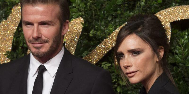 Victoria und David Beckham - Foto: Victoria Beckham (42)erhält im kommenden Jahr den Orden des Britischen Empires. Foto:Will Oliver