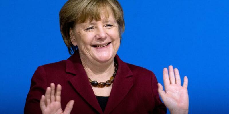 Merkel in Grimmen - Foto: Stefan Sauer